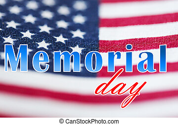 memorial day words over american flag - patriotism and...