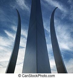 memorial., erőltet, levegő