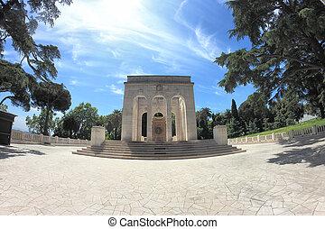 Memorial in Rome - Mausoleo ossario Garibaldino, war ...