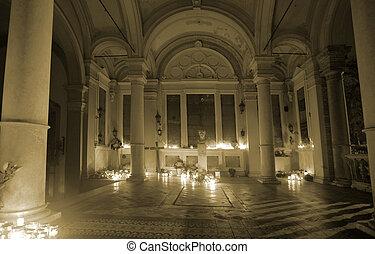 memorial - Memorial interior in Miragoj cemetary in Zagreb,...