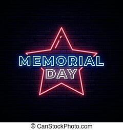 memorial, néon, signboard., dia