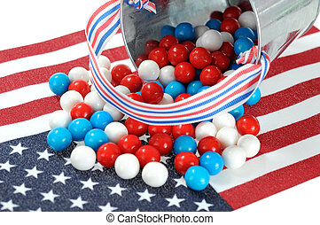 national flag - Memorial or Independence candy on national...