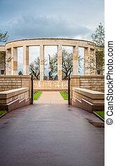 memorial, para, a, caído, americanos, em, normandy, em, segunda guerra mundial