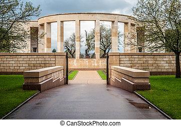 memorial, para, a, caído, em, normandy, em, segunda guerra mundial