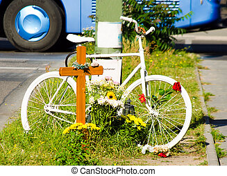 memorial place for accident victim