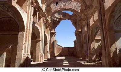 Memorial Ruins of the ancient village of Belchite. Spanish...
