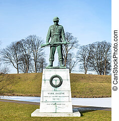 Memorial statue for soldiers in WW2 Copenhagen - Denmark