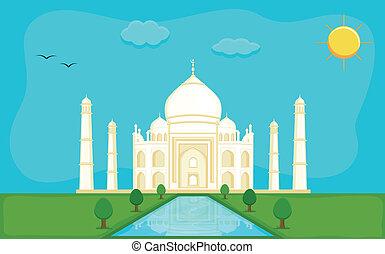 Memorial Taj Mahal Vector