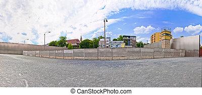 memorial to Berlin Wall in Bernauer Strasse, Berlin - Germany