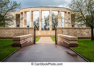 Memorial to the fallen in Normandy in World War II