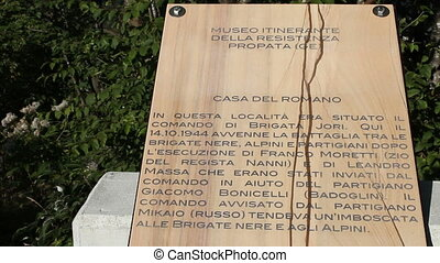 Memorial to the resistance against fascist regime in Italy -...