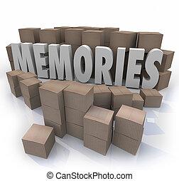 Memories Cardboard Box Word Remember Times Past