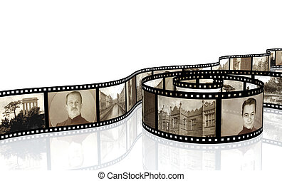 Memories - retro photo with filmstrip