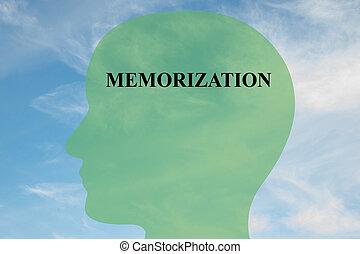 Memorization mental concept - Render illustration of...