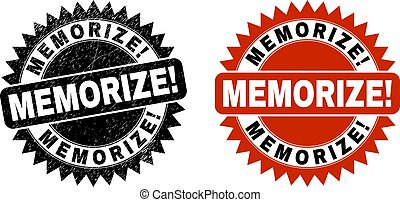 MEMORIZE! Black Rosette Stamp with Scratched Texture