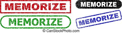 MEMORIZE Rectangle Stamp Seals with Corroded Surface