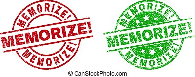 MEMORIZE! Round Stamp Seals with Rubber Surface