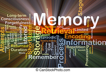 Memory background concept glowing - Background concept...