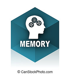 memory blue cube icon, modern design web element