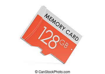 memory card 128 GB, 3D rendering
