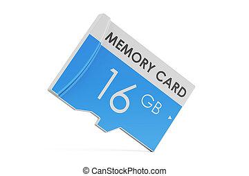 memory card 16 GB, 3D rendering