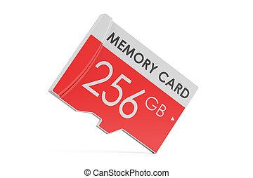 memory card 256 GB, 3D rendering