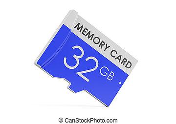 memory card 32 GB, 3D rendering