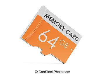 memory card 64 GB, 3D rendering