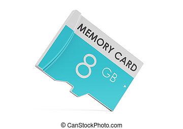 memory card 8 GB, 3D rendering