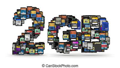 Memory cards capacity
