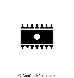 Memory Chip Flat Vector Icon