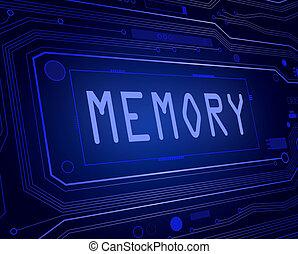Memory concept.