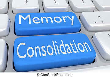 Memory Consolidation concept - 3D illustration of computer...
