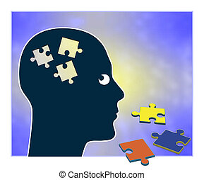 Memory Loss - Concept sign of showing a person gradually...