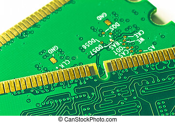 memory module close up - close up of DDR2 memory module