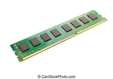 Memory module isolated on white