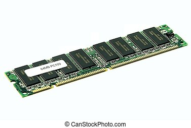 Memory module - RAM memory module on white background