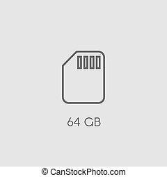 Memory SD card icon