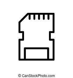 memory thin line icon