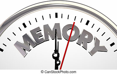 Memory Time Passing Clock Losing Memories 3d Illustration