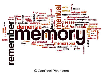 Memory word cloud concept