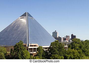 Memphis City Arena Skyline - Memphis, Tennessee publicly...