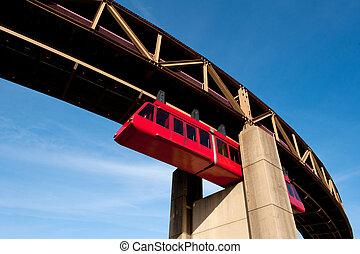 memphis, egysínű vasút