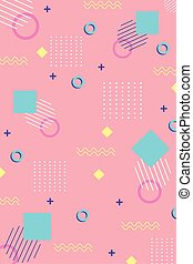 memphis forms fashion 80s 90s style abstract seamless pattern