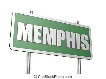 memphis, panneaux signalisations