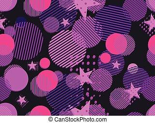 memphis, seamless, pattern., arte pnf, pontilhado, e,...