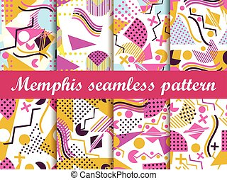 Memphis seamless pattern. Vector - Memphis seamless pattern....