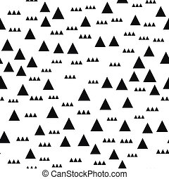 Memphis seamless patterns with geometric shapes. One color black on white. Vector illustration. Retro fashion style 80-90s