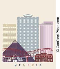 Memphis skyline poster