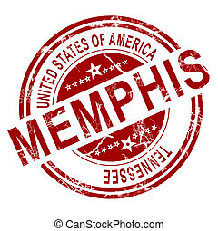 Memphis stamp with white background